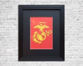 Marine corps   Etsy. Marine Corps Themed Room. Home Design Ideas