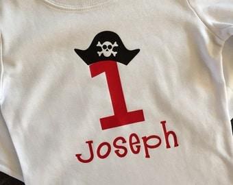 Pirate birthday shirt, pirate number shirt