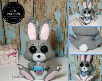 Cute Easter Bunny Felt PDF Pattern