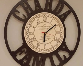 Personalised large wall clock