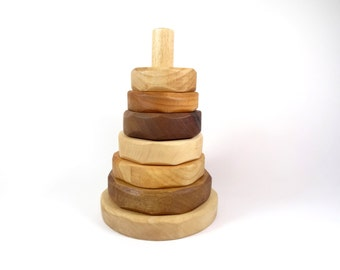 Wooden Stacking Toy for babies // Wooden building toy // Educational toys // Wooden pyramid