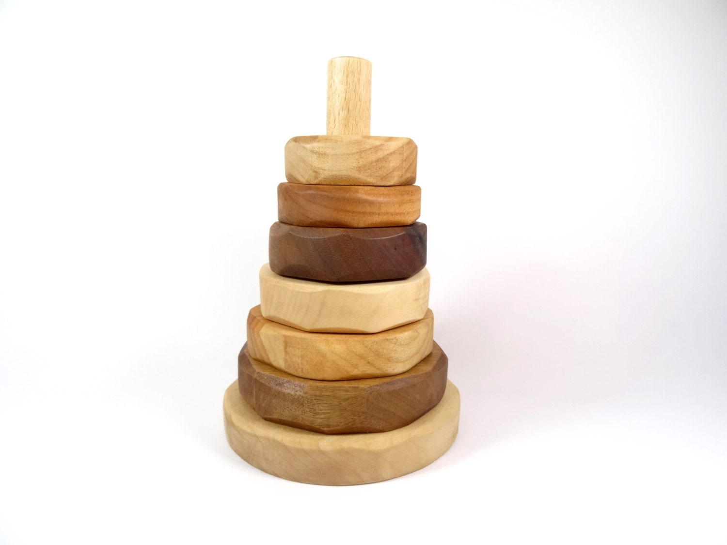 Building Wooden Toys : Wooden stacking toy for babies building