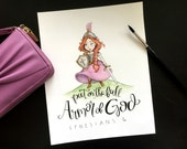 4x6 Armor of God - Ephesians 6 - Warrior Princess - Watercolor Printable Scripture Quote