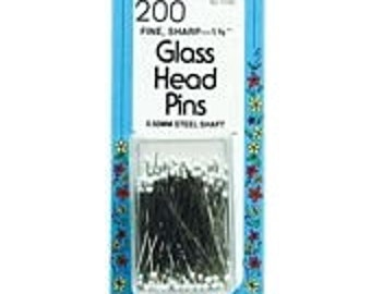 Collins Glass Head Pins 200ct