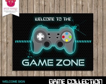 Gaming Party Welcome Sign - DIY Printable