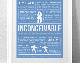 PRINCESS BRIDE, 'Inconceivable' Typography Print