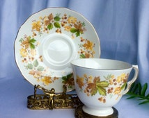 Valentines Gift for Her Vintage Queen Anne Bone China Tea Cup and Saucer Set Vintage
