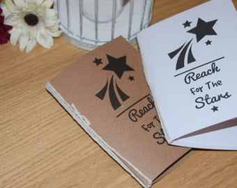 Star NoteBook 'Reach For The Stars'. A5 or A6