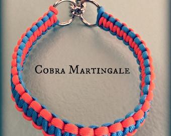 Cobra Martingale Paracord Dog Collar