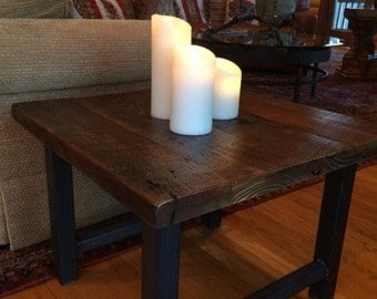 Rustic reclaimed side/coffee table