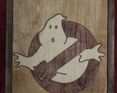 Ghostbusters Wooden Inlay Wall Art