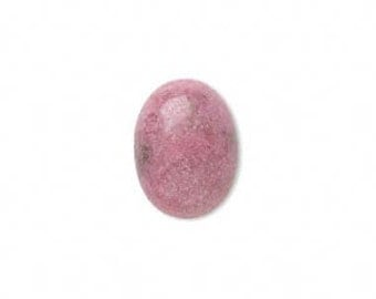 Pink Cabochon, Pink Rhodonite Cabochon, Natural, 25x18mm, 1 each, D366