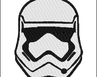 Storm Trooper Embroidery Design Darth Vader