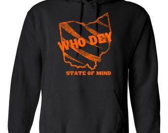 Cincinnati Bengals Who Dey Hooded Sweatshirt