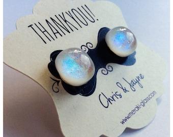 20 sets of Wedding Favour Glass Ear Studs (variois colours)