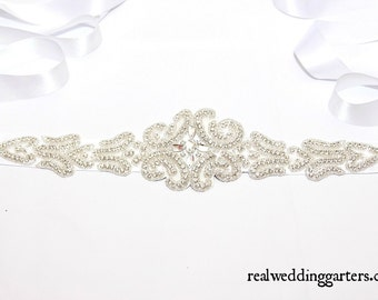 Pearl bridal belt etsy uk for Double sided tape for wedding dress