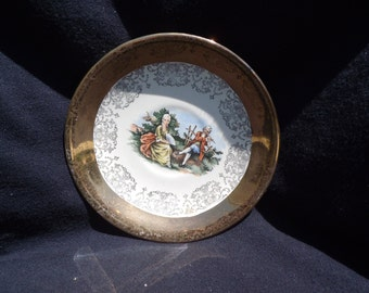 Crest-O-Gold Plate Courting Victorian Couple 1949