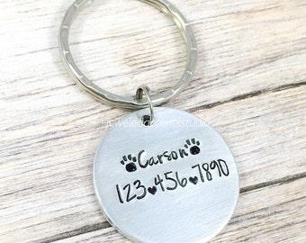 Custom Pet Tag, Dog ID Tag, Dog Collar Tag, Personalized Pet Tag, Hand Stamped Collar Tag, Pet Identification Tag, Cat ID Tag, Pet Accessory