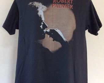 Vtg 1986 Robert Palmer Addicted To Love Tour Concert T-Shirt Black M/L 80s Rock