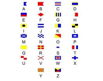 Nautical Alphabet Flags Photo License Plate - LPO2322
