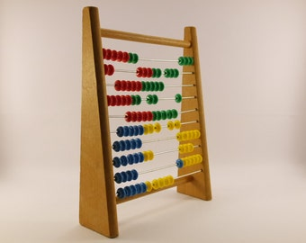 Vintage 60s child's wood abacus
