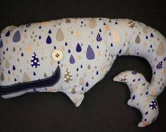 Helen the whale baby cuddly toy - Doudou Hélène whaling