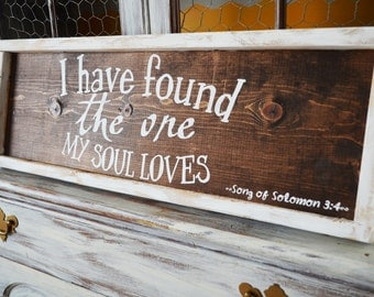 Song of Solomon-I have found the one my soul loves