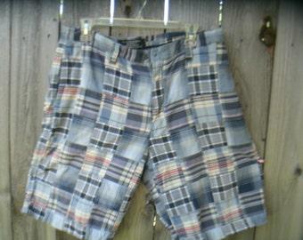 Vintage Patchwork Plaid Shorts Size 34-35