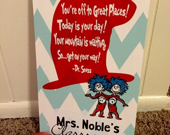 Personalized dr. Seuss teacher gift