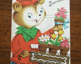 1950s USED Card, child's birthday card, no envelope