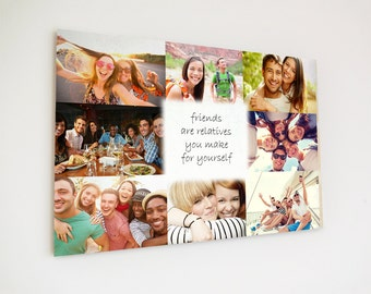 A4 Wooden plaques colour collage for friends or family customise your own plaque with your pictures and names or a quote
