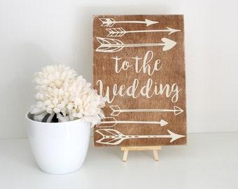 Wedding Sign - Rustic Wedding Decoration - Wedding Direction Signs - Wedding Decor - Wooden Wedding Signs - Wedding Accessories - Handmade