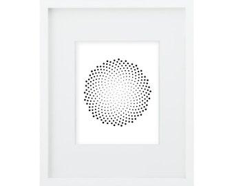 2 Spiral Mandalas Digital Prints Math Art - Perfect golden ratio - a 8x10 and a 16x20 both at 300dpi