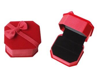 1 Velvet Ring Box, Red Ring Box Velvet, Mrs Box, Ring Box, Velvet Jewelry Ring Gift Boxes, Jewelry Box, Wedding Ring Box,  Ring Holder, 5531