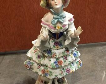 An Antique Sitzendorf Porcelain Figurine. Germany XIX century.