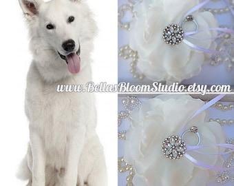 Dog Ring Bearer pillow,Dog Wedding flower,Dog collar flowers ,Dog collar ,dog collar bling,pet collar bows,Wedding Dog bow,Dog Bows,Girl dog