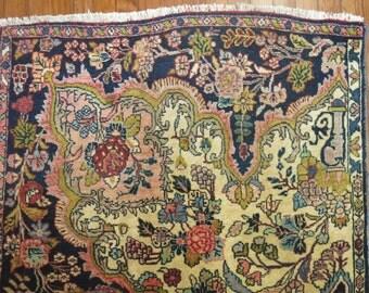 Antique Persian Kashan Isfahan Sampler Rug Size 3'3''x5'