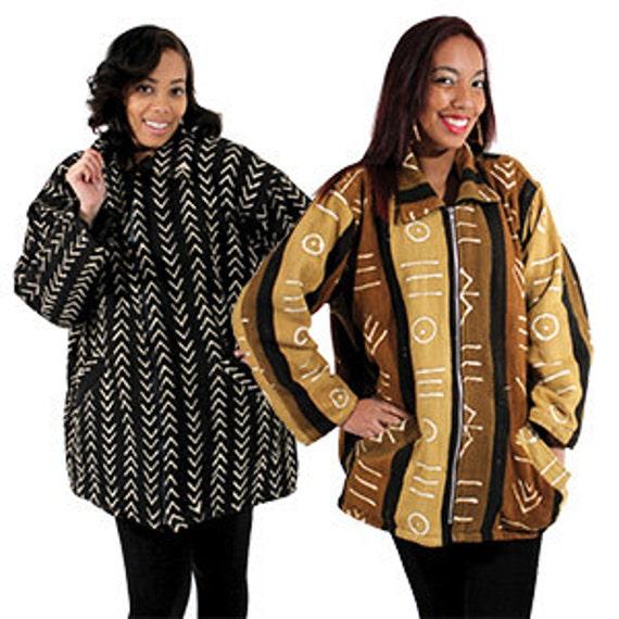 Mid-Length Mud Cloth Coat