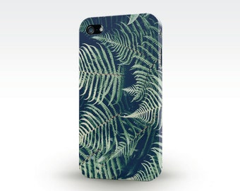 Fern cell phone case, Unique herb phone case, Galaxy phone case, Forest iPhone 7 case, iPhone 6 plant case, Weed phone case, S6 Fern cover