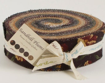 "Sandhill Plums by Kansas Troubles Quilters, Honeybun 40 - 1 1/2"" x WOF Strips of Precut Quilting Fabric"