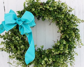Boxwood Wreath, Spring Wreath, Faux Boxwood Wreath, Front Door Wreath, Artificial Boxwood, Summer Decor, Wedding Decor, Outdoor Wreaths