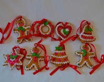Hand Crafted Felt Ornament Set (8 piece)