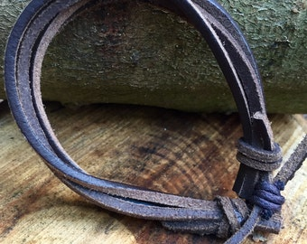 Adjustable, Leather Bracelet