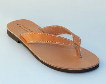 Men's leather sandals (42, 46 - Natural leather)