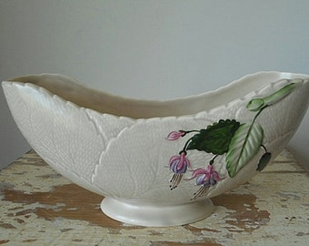 Vintage Crown Devon Hand Painted Fuschia Display Vase