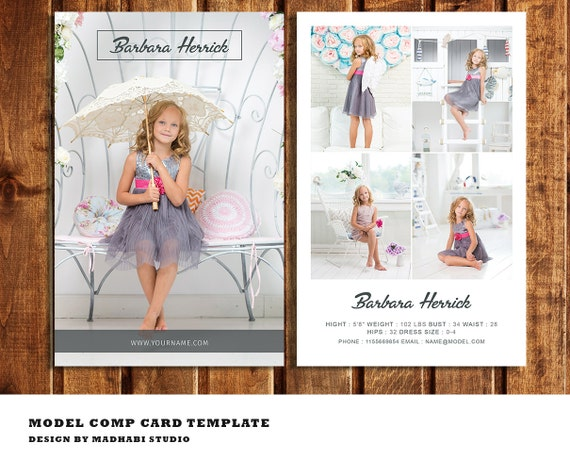 Modeling comp card template model comp card fashion model for Free comp card template
