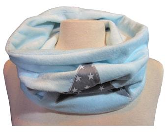 SNOOD or scarf tube velvet minkee