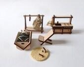 mobilier en bois et en kit pour maison de poupée