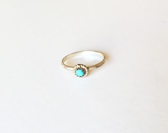 In Bloom Ring - Vintage Ring - Bohemian -Turquoise Ring - Dainty Ring - Stackable Ring