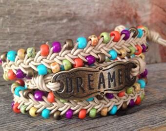 Multi-colored Braided Wrap Bracelet